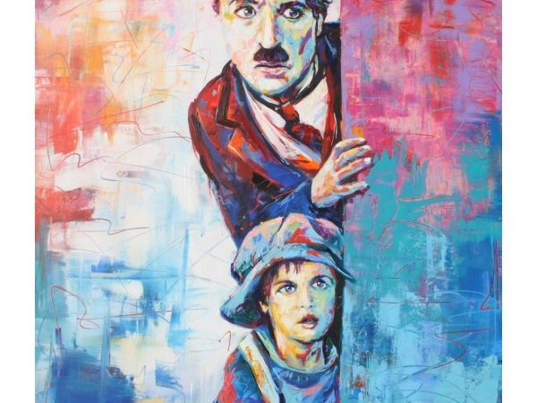 Charlie Chaplin and a Kid