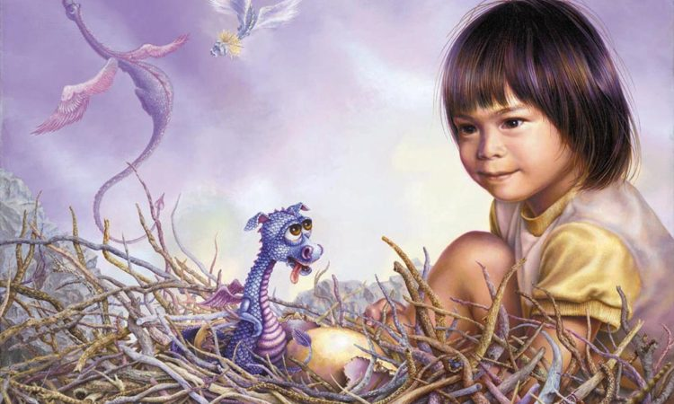 child and dragon