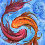 Pisces fish art